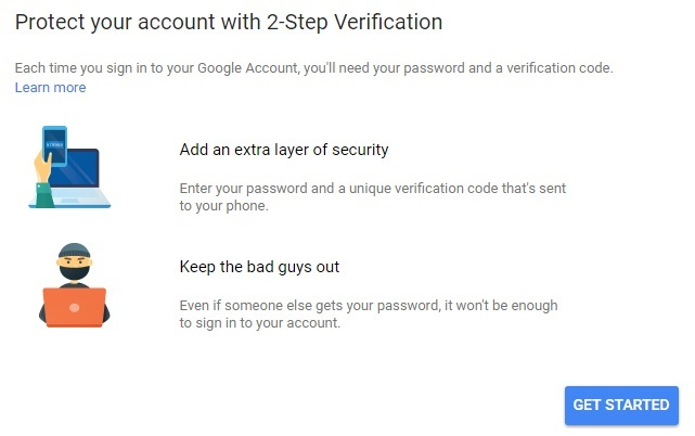Secure Google Account Using 2 Step Verification Authentication