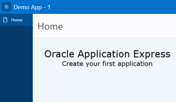 Oracle Application Express (APEX)- Create an Application
