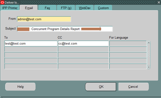 concurrent program email delivery option