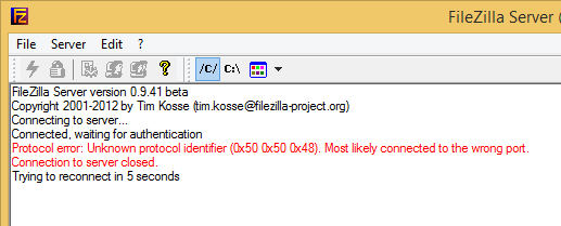 xampp filezilla server