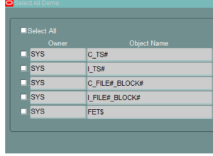 select all oracle form working