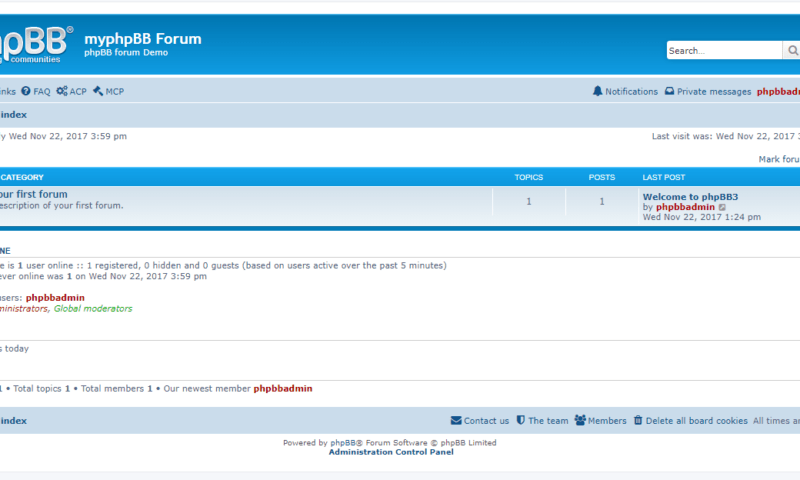 How to Install phpBB Forum on Windows using XAMPP