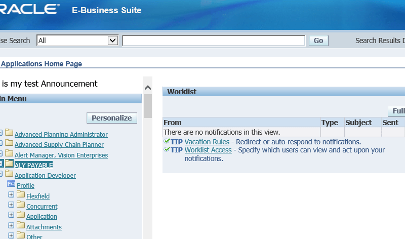 Oracle E-Business Suite (Oracle Apps) free access practice instance