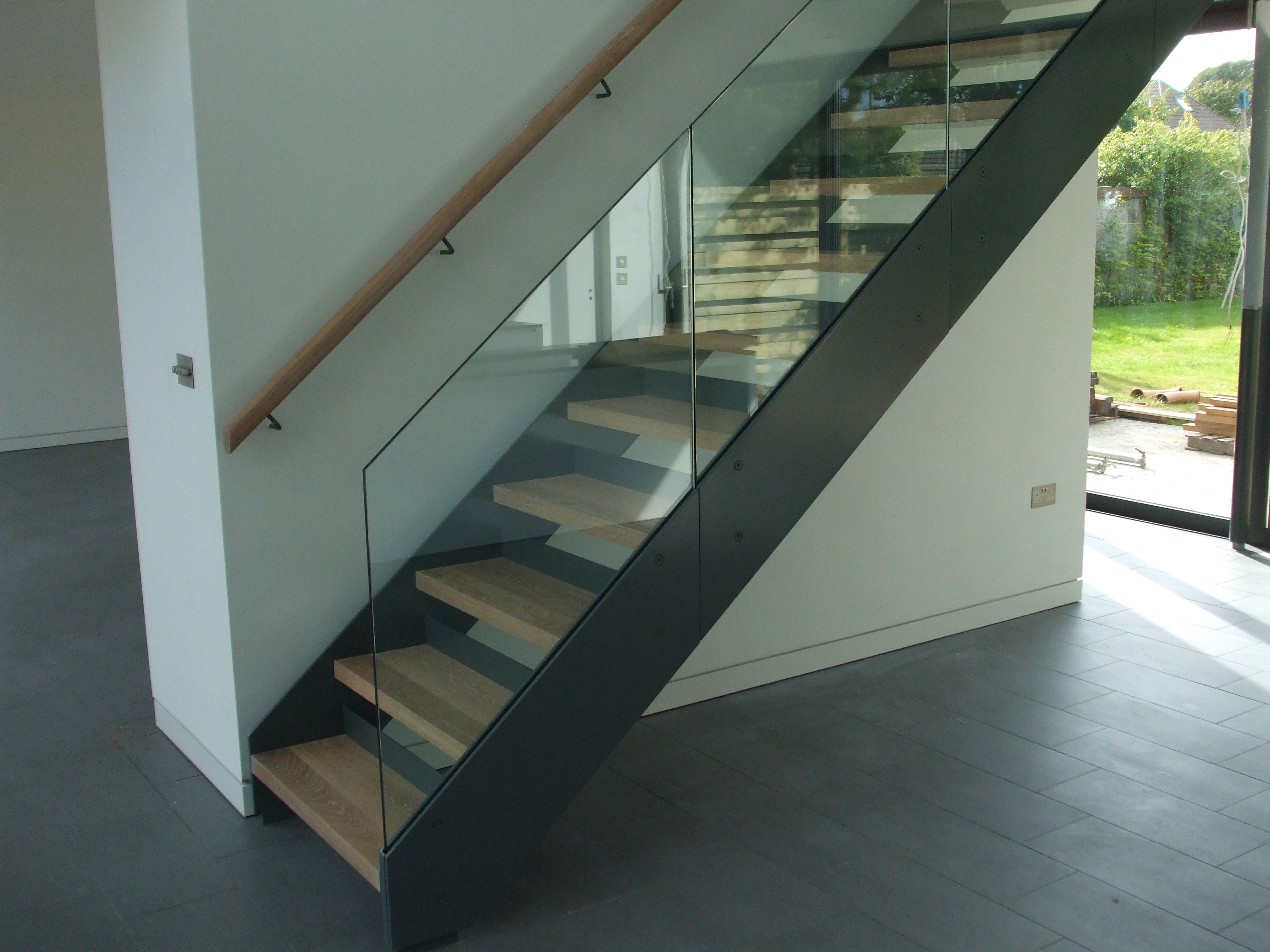 Staircase And Stairs And Stair Parts Athena Fabrication | Stairs With Glass Sides