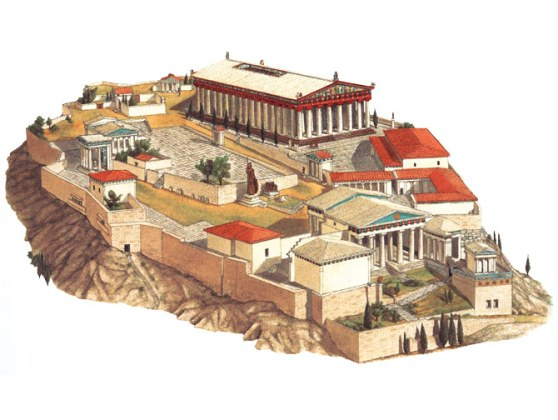 Best Ancient Greece Olympic Games Images On Pinterest Athens Coloring Page See A Map Of The Acropolis With More Details Large