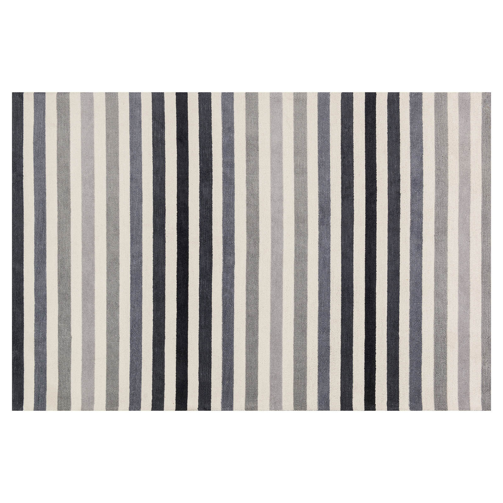 Area Rugs   At Home A300 Black and Grey Micro Stripe Rug
