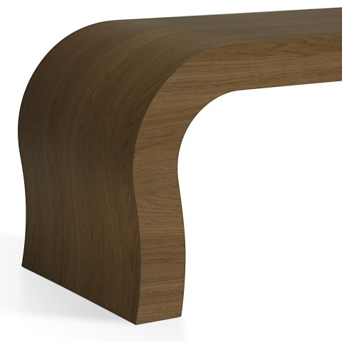Curved Coffee Table Oak Atlantic Shopping