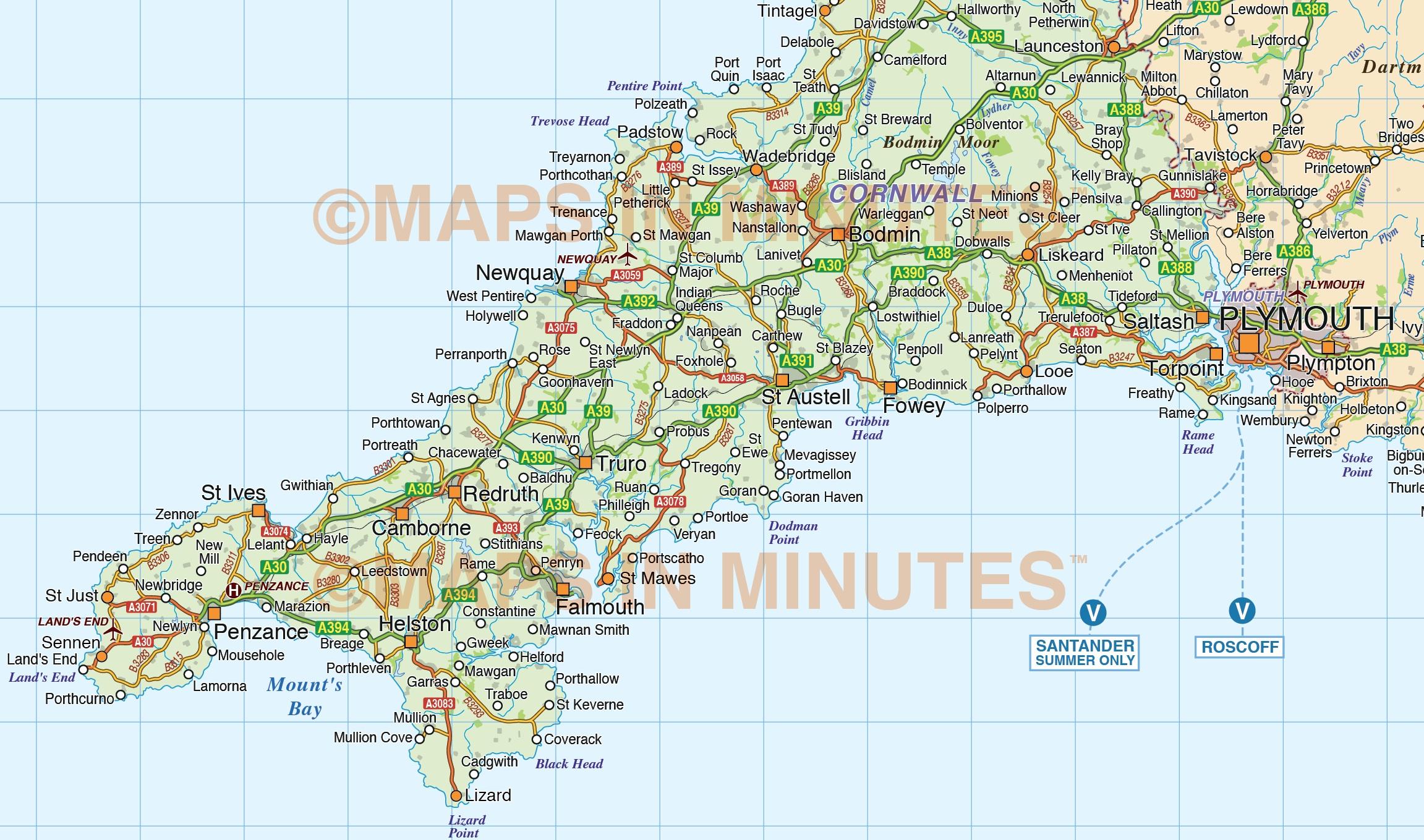 World Map British Isles