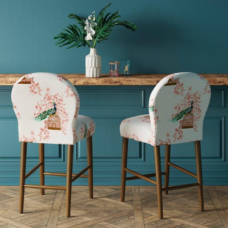 Blue Chair Accent Velvet Navy