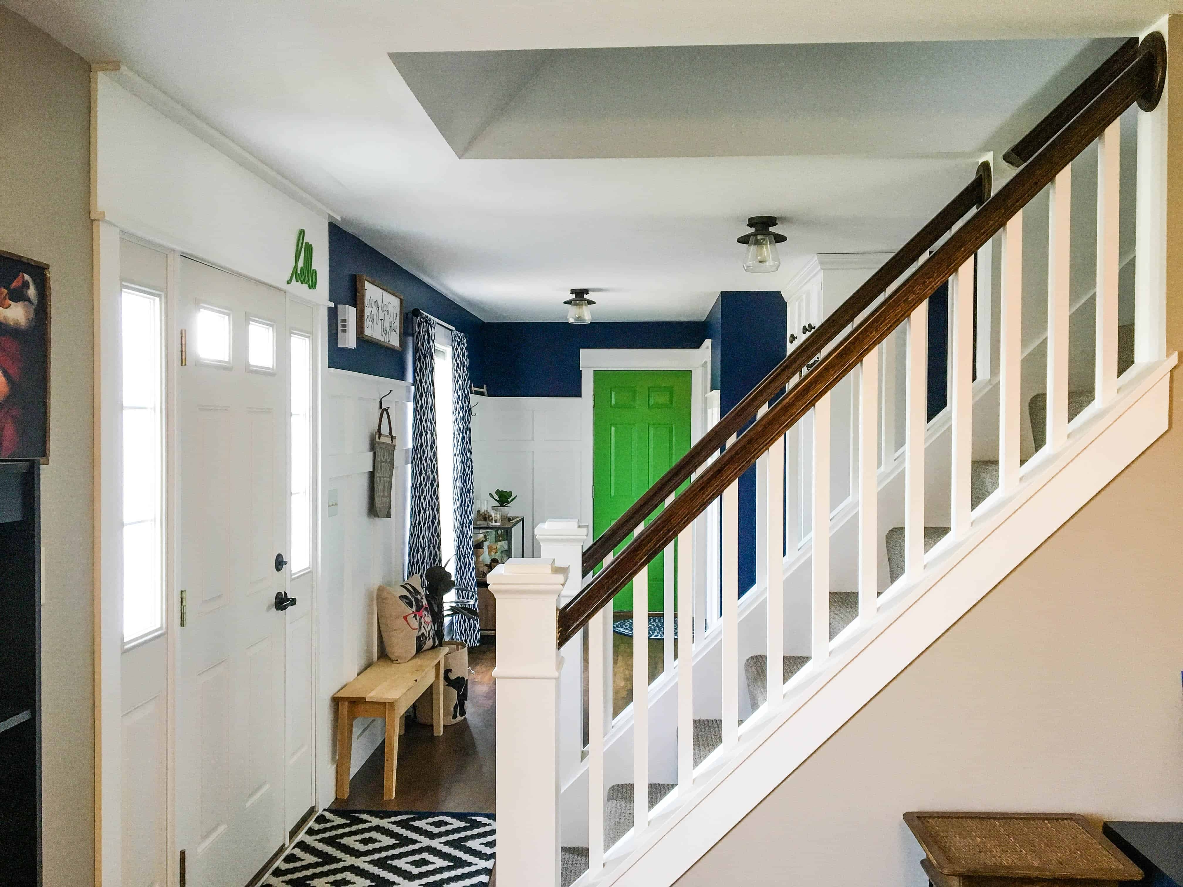 How To Open Up An Interior Staircase A Turtle S Life For Me | Center Staircase House Plans | Georgian House | Spiral | Split | Room | Contemporary