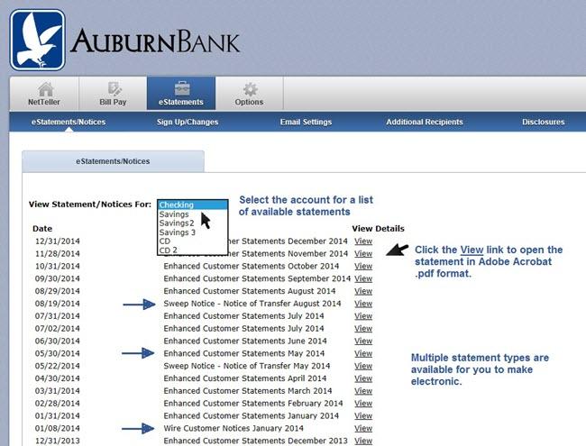Auburn Bank Personal Banking Online