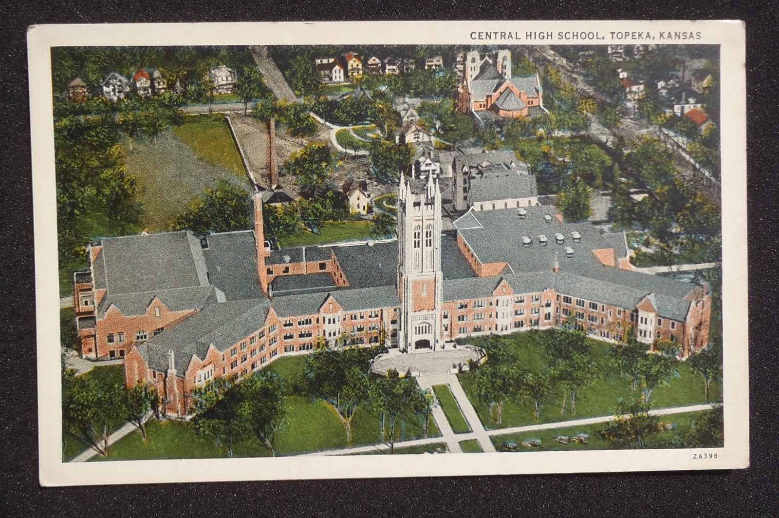 1930s? Aerial Central High School Topeka KS Shawnee Co ...
