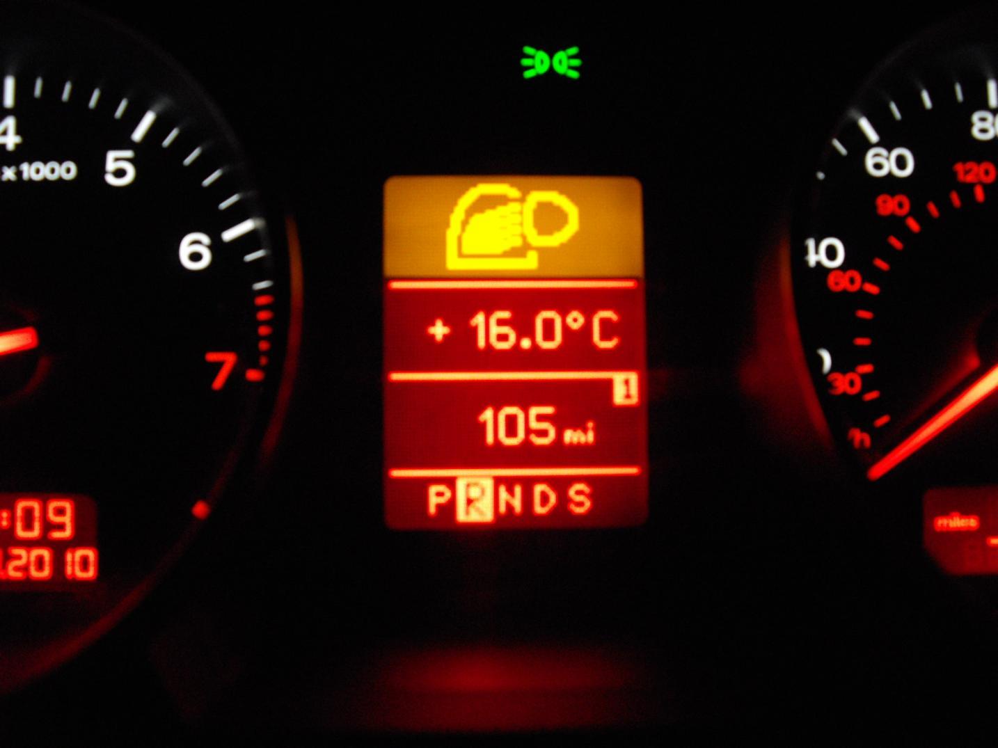 Audi A4 Dashboard Symbols