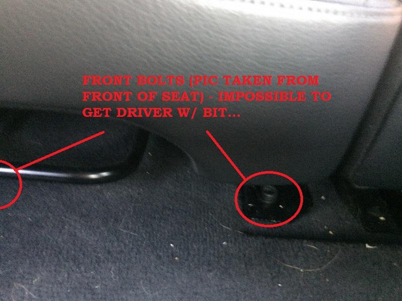 Milkshake Disaster Back Seat Removal Audiworld Forums