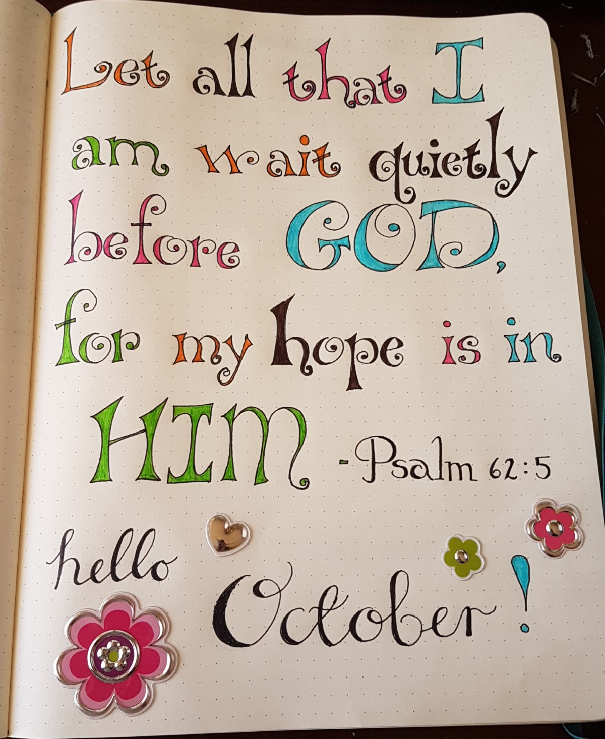 Christian Bullet Journal October Flip Through