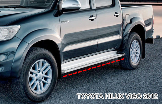 Oe Style Side Step Bars Running Boards For Toyota Hilux