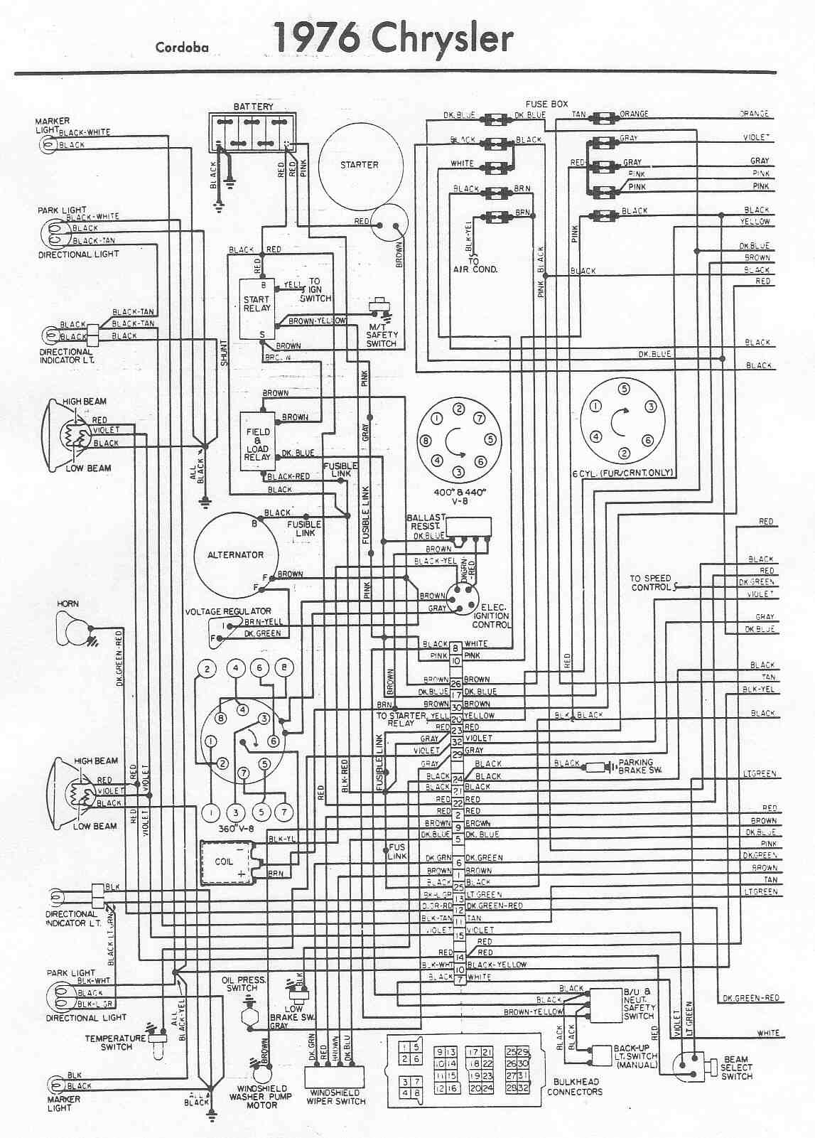 Diagram Chrysler Alternator Wiring