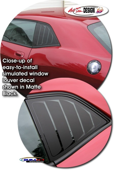 Simulated Window Louver Decal Kit 1 For Dodge Challenger