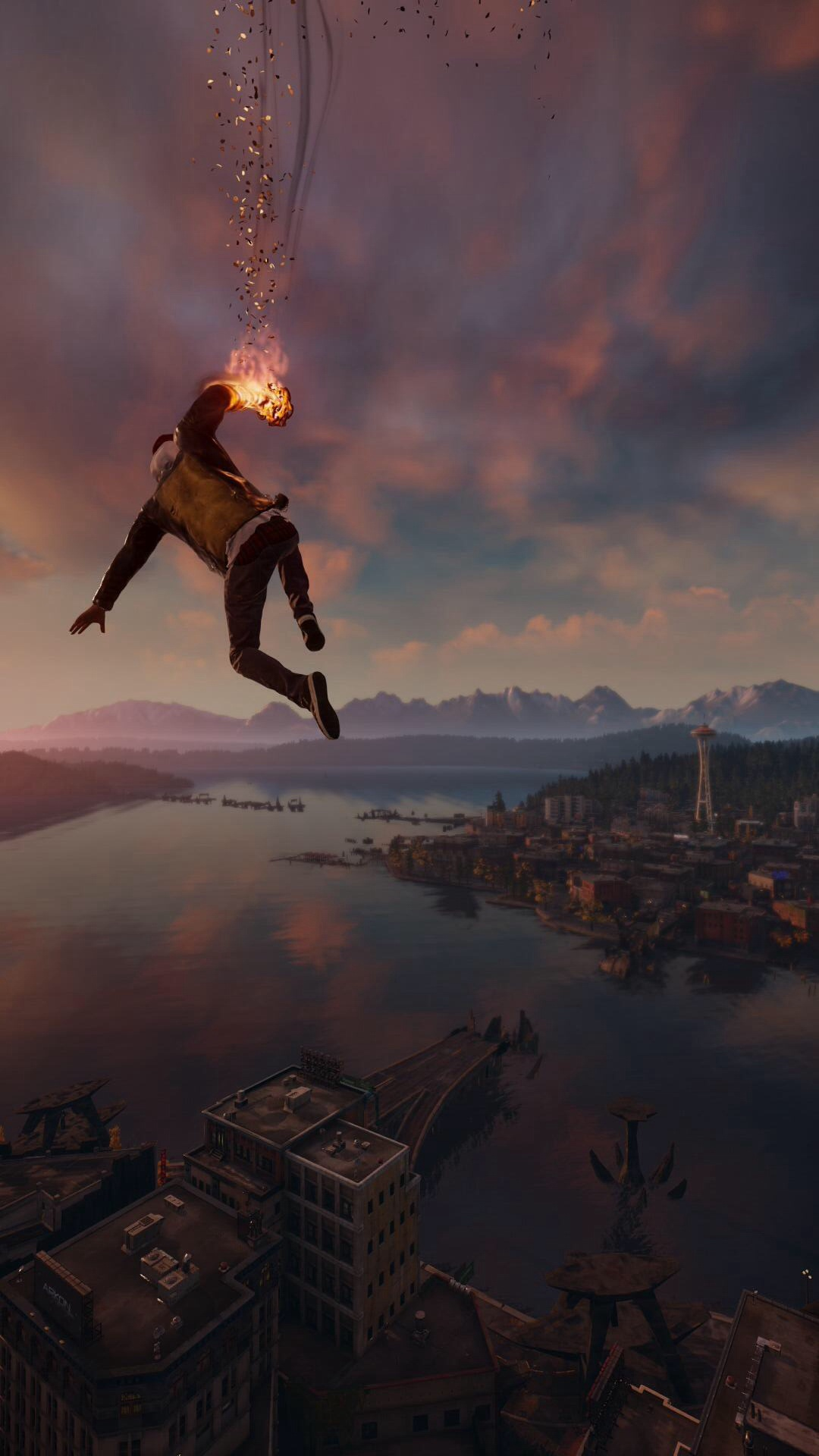 60 Marvelous Game iPhone Wallpapers For Gamers Infamous Second Son Smoke Ability City View iPhone 6 Plus HD Wallpaper