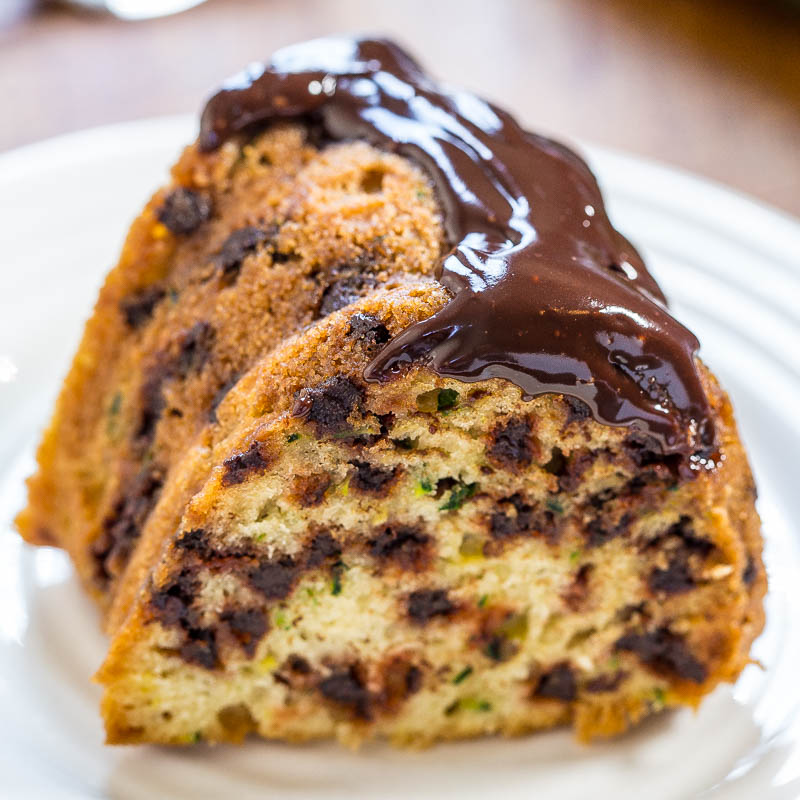 Zucchini Chocolate Chip Bundt Cake With Chocolate Ganache