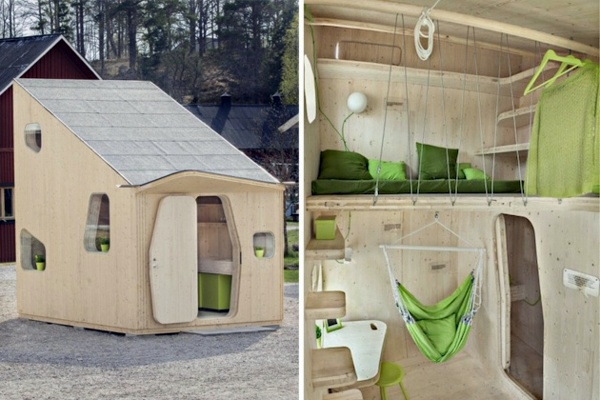 Small Wooden House For Students On 10 Square Meters