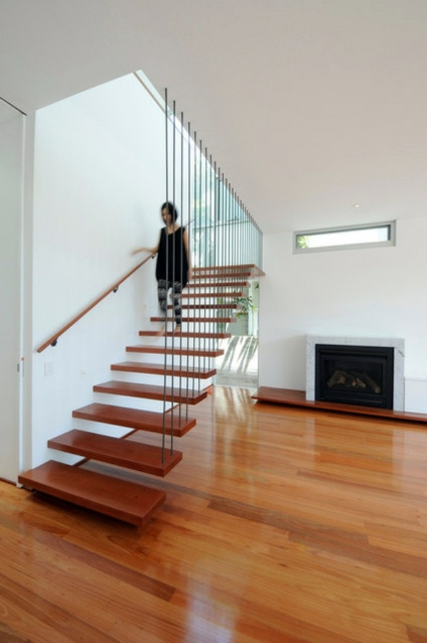 Modern Wood Stairs – Move Relax Interior Design Ideas Avso Org | Modern Wood Staircase Railing | Interior | Stylish | Wall Mounted | Contemporary | House