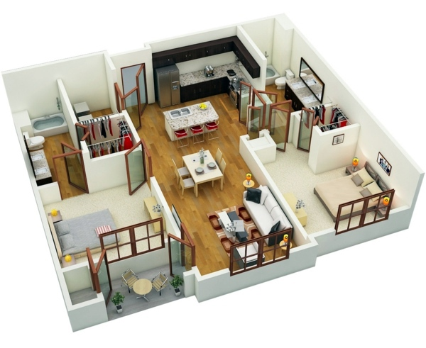 Planner Virtual Room Living