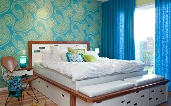 Bedroom colors ideas     blue and bright lime green   Interior Design         Bedroom colors ideas   blue and bright lime green