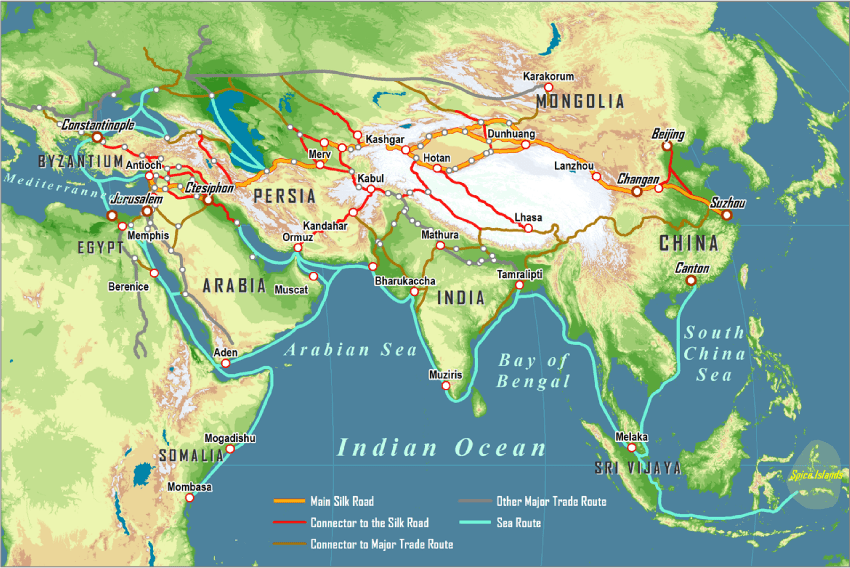 China Ages Map Middle