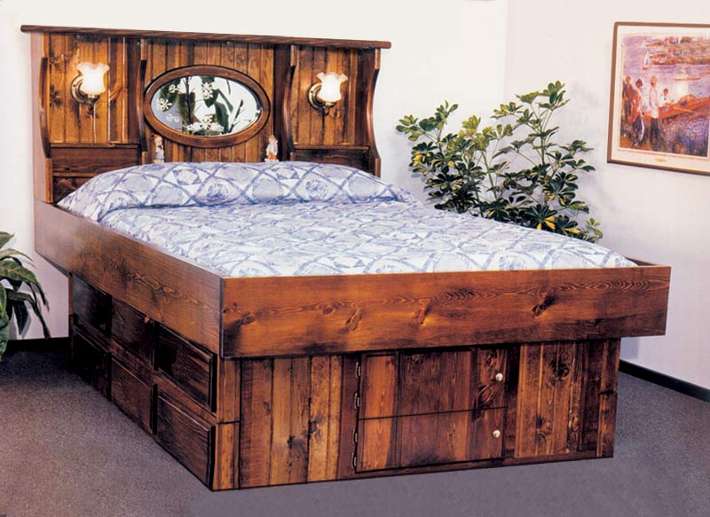 Waterbed Crestwood With Lamps Complete Hb Fr Deck 6d Ped K