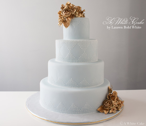 Custom Cakes NYC   Wedding Cakes   Specialty Cakes Blue   Gold Deco