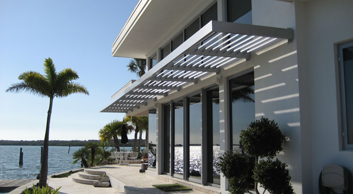 Aluminum Louvered Sunshade An Architectural Beauty