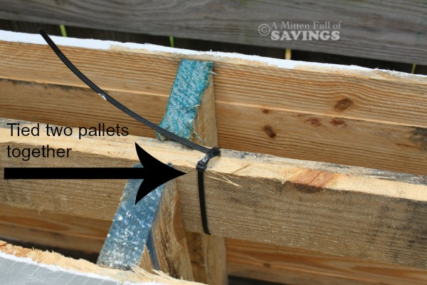 tied pallets together