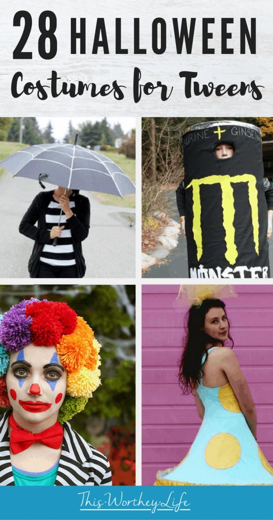 List of Halloween Costumes for Tweens