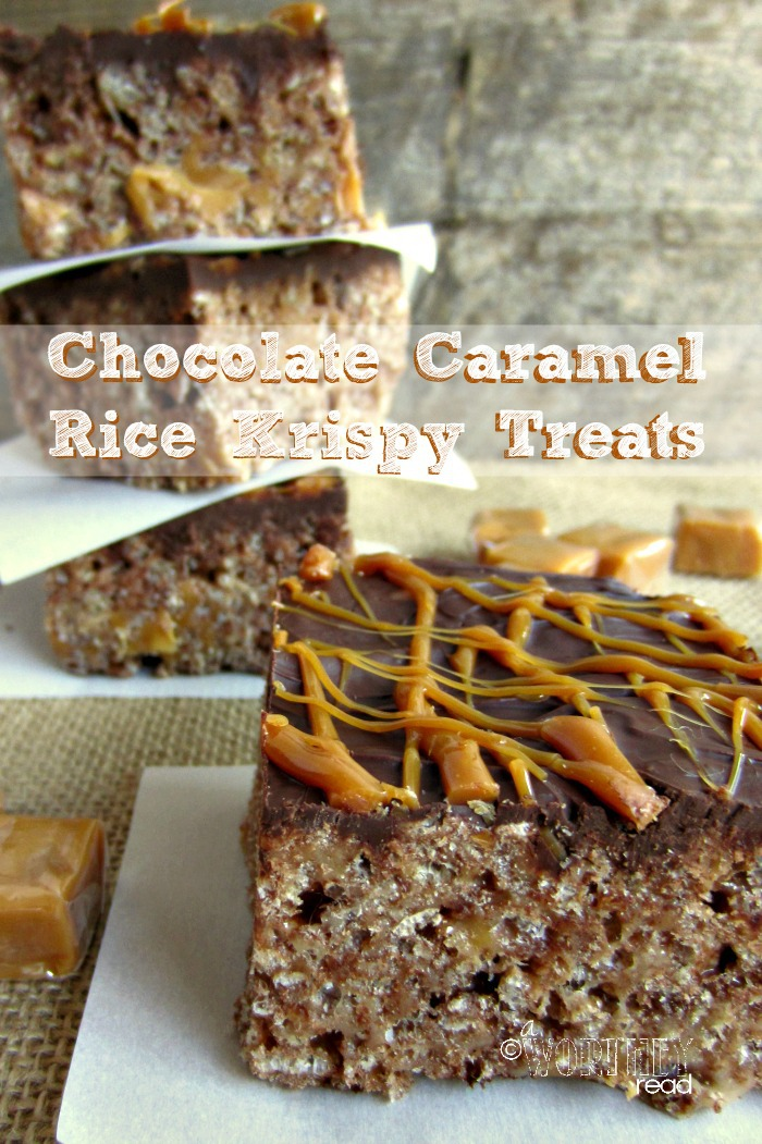 Here an easy Krispies Recipe to make- Chocolate Caramel Rice Krispy Treats. Chocolate and Easy into one recipe! Check it out here...