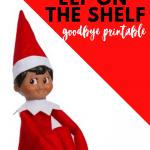 Free elf on the shelf goodbye letter