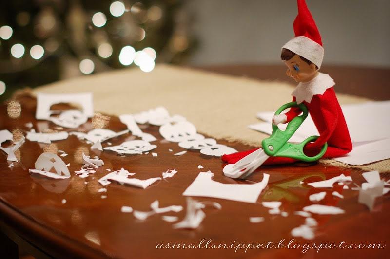 Elf on the Shelf snowflakes