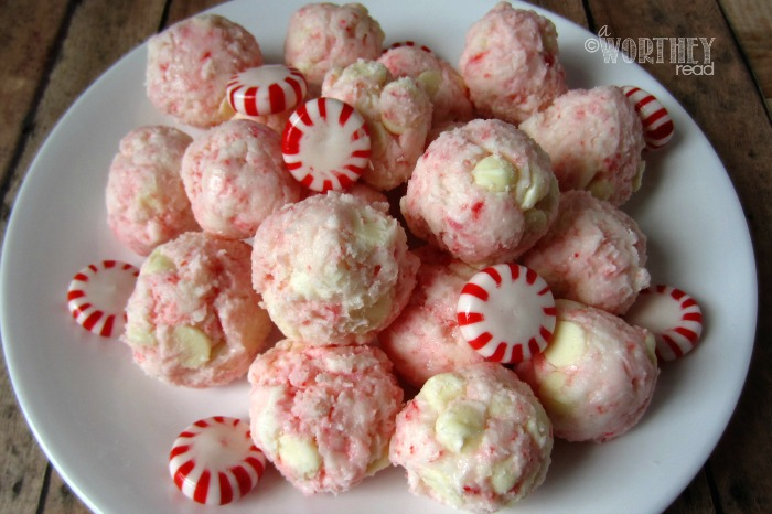 Here's an easy recipe for White Chocolate Peppermint Cheesecake bites Perfect peppermint dessert