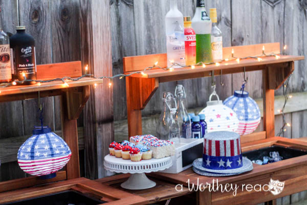 Red, White & Blue Outdoor Party Theme-21
