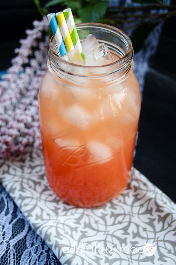 Mocktails made in a Mason Jar