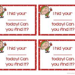 Elf on the Shelf Printable Cards Activity