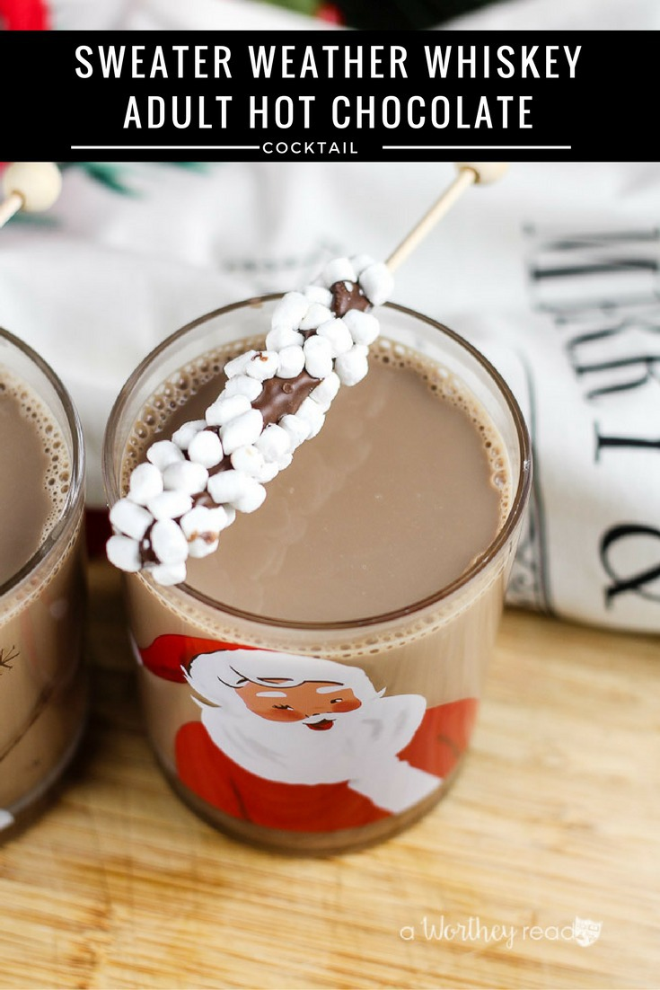 Warm up with this adult hot chocolate cocktail idea. With Jack Daniel's Tennessee Fire Whiskey, mexican hot chocolate and a few other ingredients, you will love our Sweater Weather Whiskey Adult Hot Chocolate