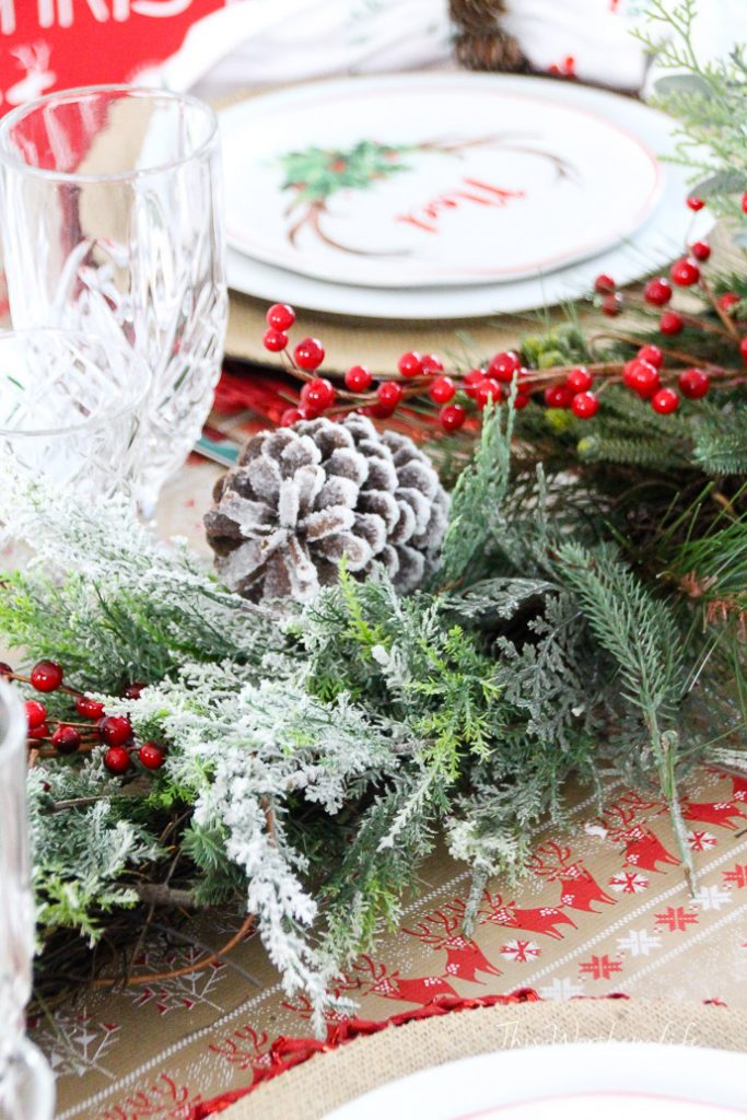 How to create a greenery-style centerpiece for a holiday dinner