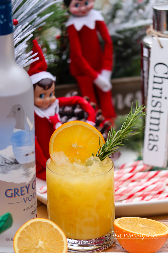 Don't let the stress of moving the Elf on the Shelf each night get the best of ya! Here are 5 cocktails using the kid's juice you can make after you move the Elf on the Shelf. Don't have an Elf, these cocktails ideas are easy to make using what you have in the fridge.
