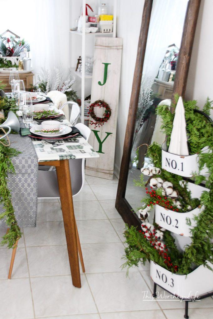 Using Hearth & Hand Magnolia Christmas decor around your house