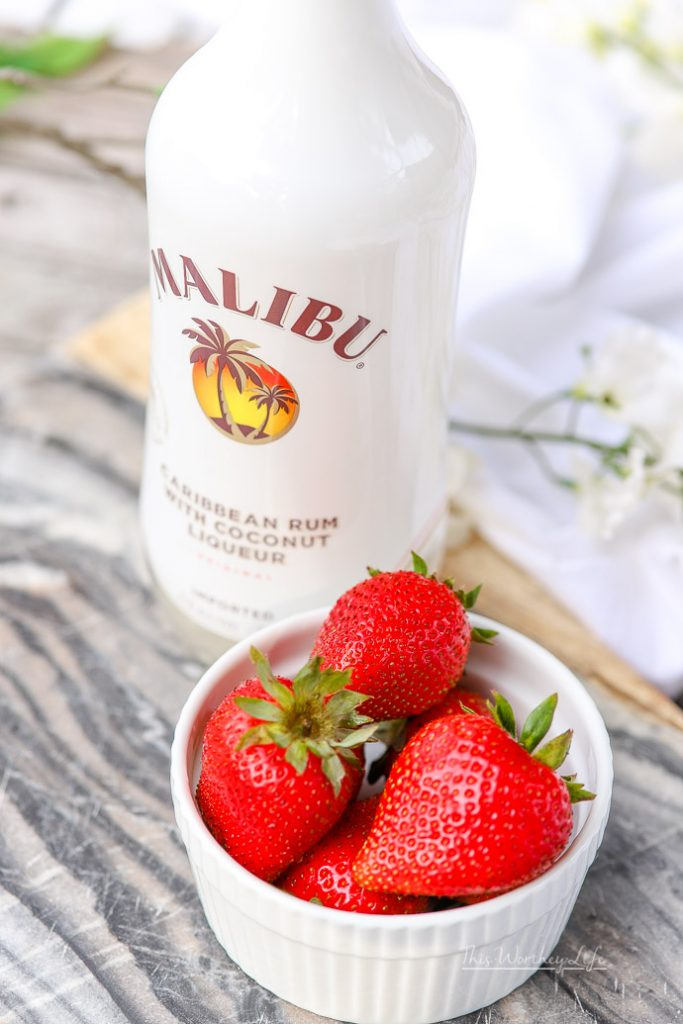 White Chocolate Strawberry Ice Cream Float