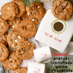 Homemade cookies with high-quality ingredients are what we're calling our Pretzel Crunchers White Chocolate Chip cookies. Mixed with pretzels, white chocolate chips, Bob's Red Mill flour and more, these are a delicious and simple Christmas cookie recipe to try this year.