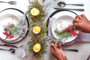 Prepping for a small dinner party or a holiday date night? I'm sharing a Christmas Tablescape idea for two, with a few simple things you can do to pull off an elegant holiday look.