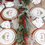 Get your Christmas table on and poppin' with our Noel Red & White Christmas tablescape idea. With just a few simple steps, you can create a beautiful red and white theme for your holiday dinner!