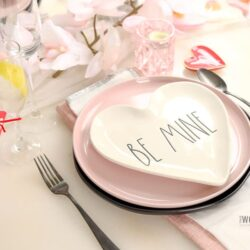 Rae Dunn Valentine's Day Tablescape for Two
